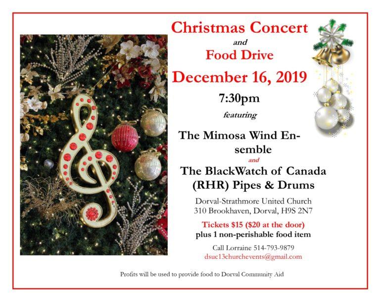 Christmas Concert and Food Drive