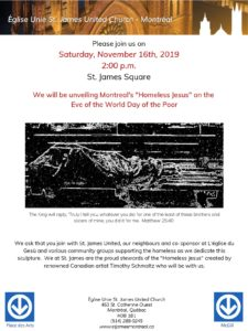 Poster for Homeless Jesus - St James UC