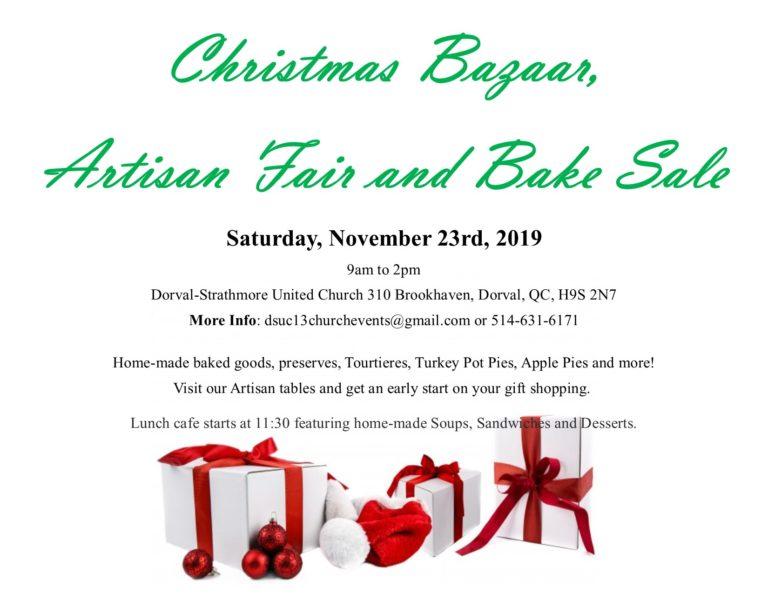 Christmas Bazaar, Artisan Fair and Bake Sale