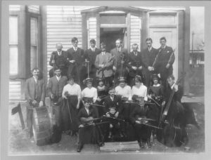 Historic photo of Southwest UC band in 1800s