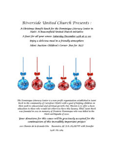 Poster for Haiti Christmas Benefit Lunch Dec2019 - Riverside UC