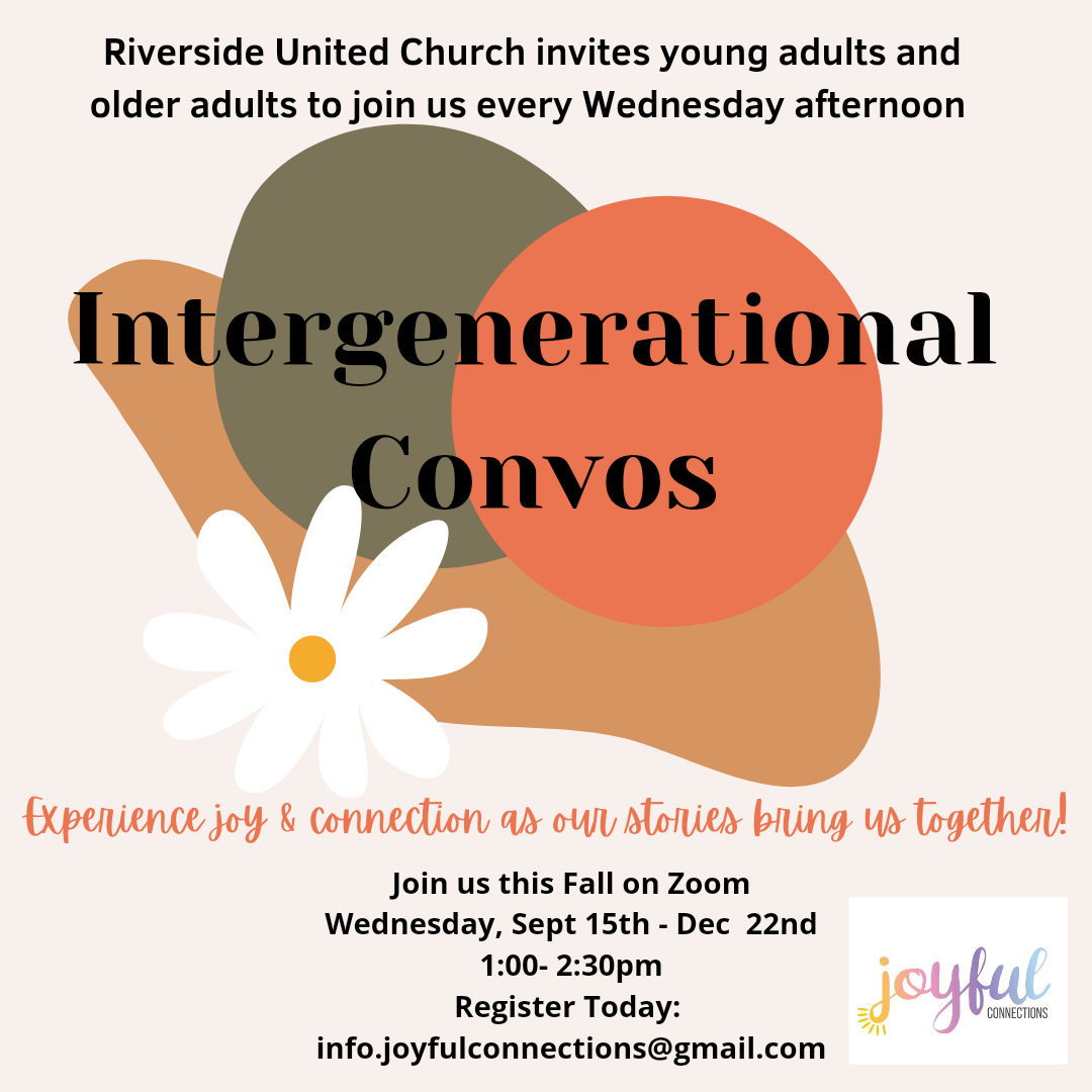 POSTER with information about Intergenerational Convos event