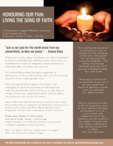 Honouring Our Pain: Living the Song of Faith poster